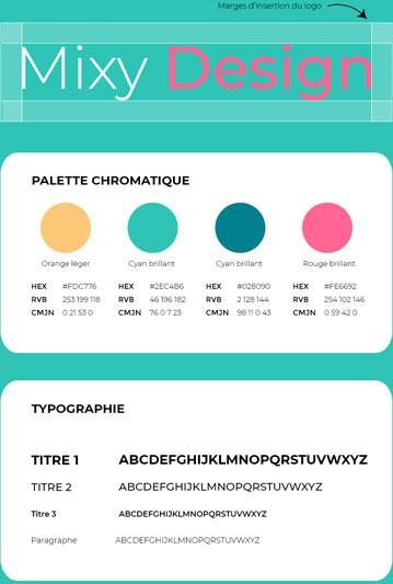 Identité Visuelle de l'agence Mixy Design