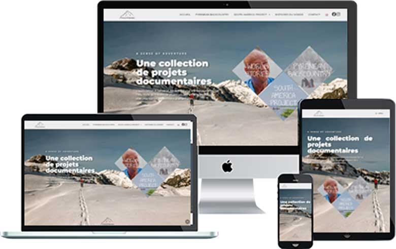 Design d'une maquette web pour site internet